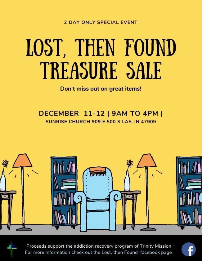Lost, then Found Treasure Sale